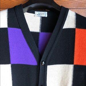 Gianni Versace Vintage wool color block vest